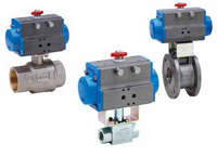 pneumatically actuated process valves