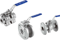 OF three piece ball valves