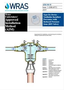 RPZ valve certificate