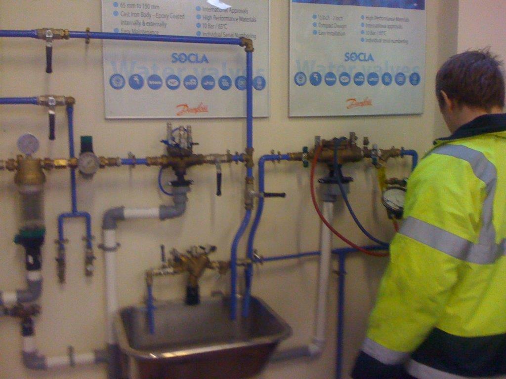 RPZ valve testing uk