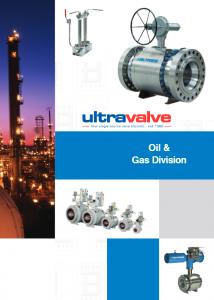Ultravalve oil and gas process valve brochure