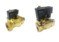 brass 2/2 normally open pressure assisted economical solenoid valve